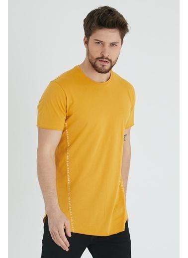 XHAN Hardal Yanı Baskılı T-Shirt 1Kxe1-44621-37 Hardal